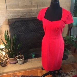 Fire Engine Red Sweatheart Dress